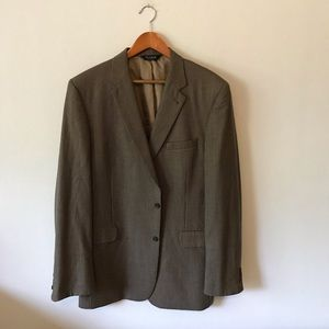 Jos. A Bank Houndstooth Wool Suit Jacket 46 XL